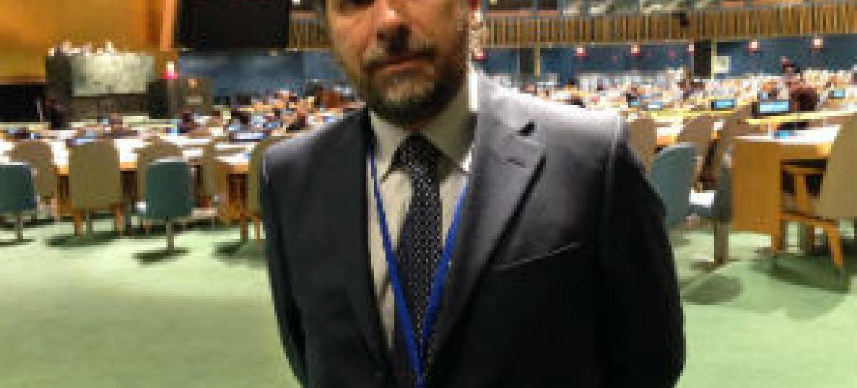 Pedro Roque na Assembleia Geral. Foto: Rádio ONU