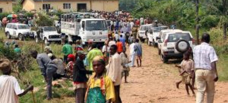 Crise deslocou milhares para os países vizinhos. Foto: Menub.
