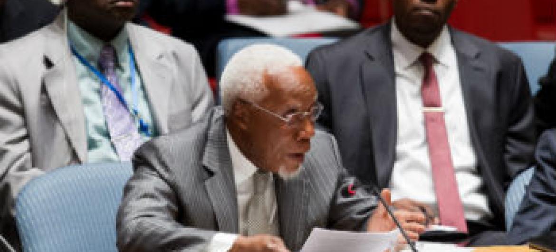Ismael Martins discursa no Conselho de Segurança nesta sexta-feira. Foto: ONU/Loey Felipe