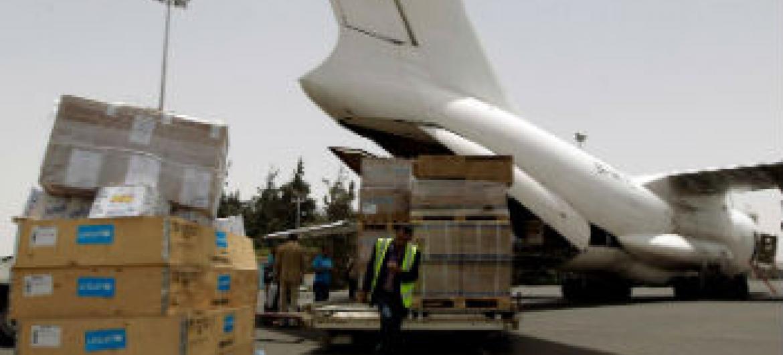 Ocha entrega ajuda humanitária no Iêmen. Foto: Unicef