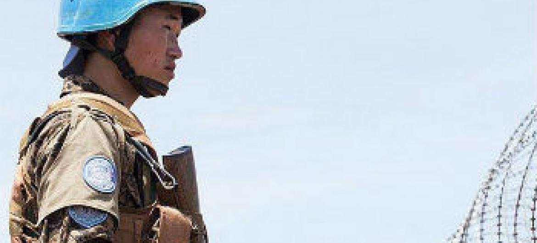 Soldado da paz no Sudão do Sul. Foto: Unmiss