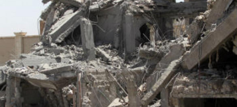 Escola destruída pelo conflito no Iêmen. Foto: Unicef/Mohammed Mahmoud