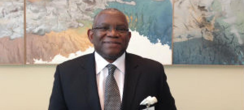Ministro Georges Chikoti na sede da ONU. Foto: Rádio ONU