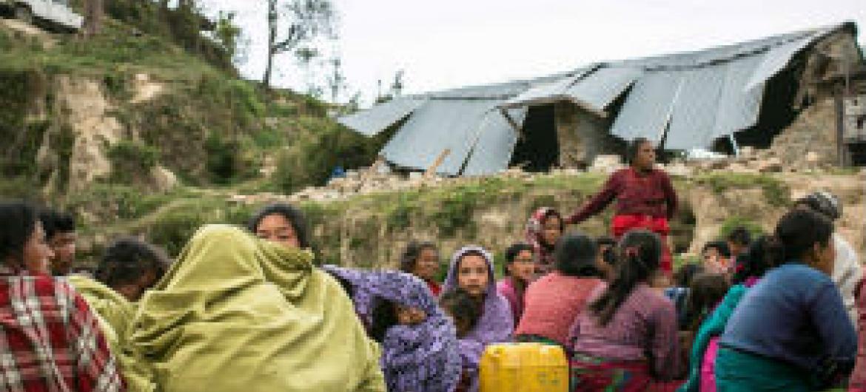 Famílias desalojadas no Nepal. Foto: Unicef Nepal/René Jøhnke