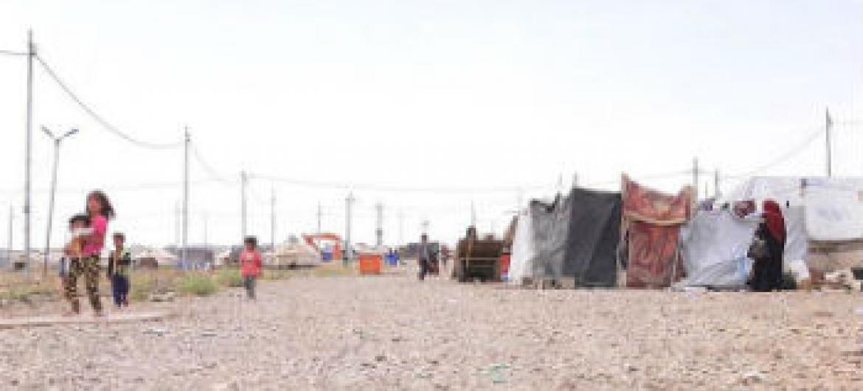 Campo de deslocados internos de Baharka, para iraquianos deslocados nos arredores de Erbil, ao norte do país. Foto: Unicef/Philip Hazou