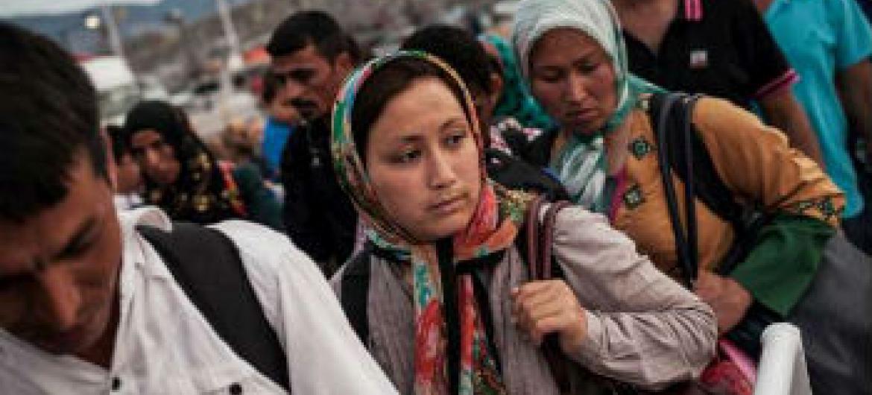 Refugiados sírios na ilha de Kos, Grécia. Foto: Acnur/S.Baltagiannis