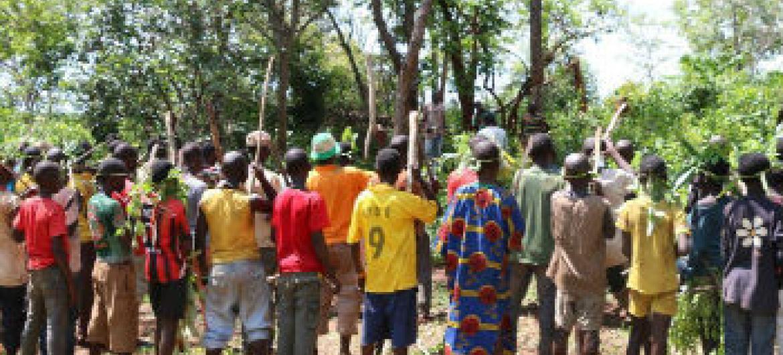 Crianças centro-africanas libertadas de grupos armados. Foto: Unicef
