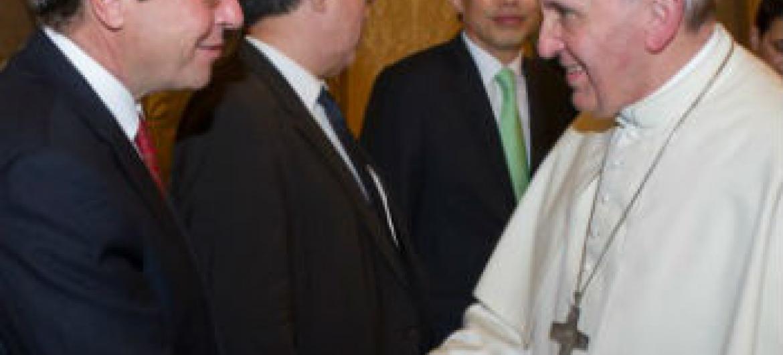 Encontro do papa Francisco e Achim Steiner. Foto: Pnuma