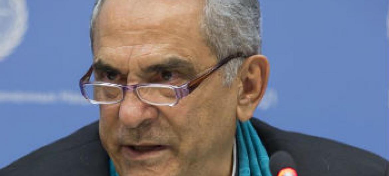 José Ramos-Horta em conferência de imprensa na sede da ONU. Foto: ONU/Eskinder Debebe