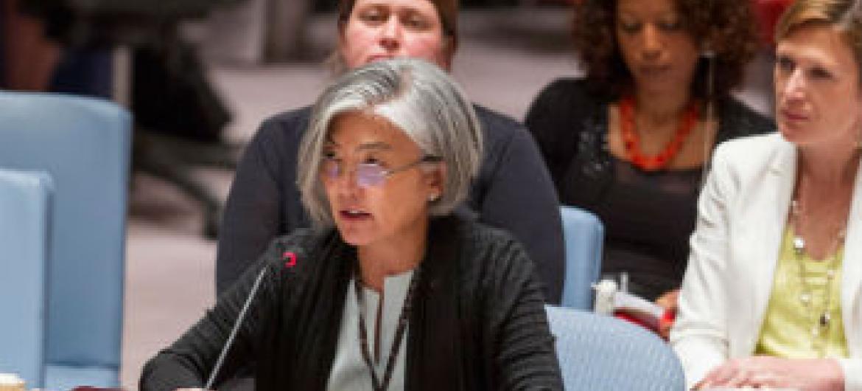 Kyung-Wha Kang em discurso no Conselho de Segurança. Foto: ONU/Loey Felipe