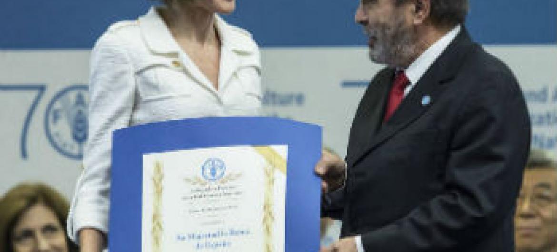 Rainha Letícia da Espanha é nomeada embaixadora especial para Nutrição da FAO. Foto: FAO.