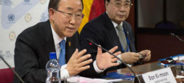 Ban Ki-moon afirmou que a conferência em Adis Abeba foi um êxito. Foto: ONU/Eskinder Debebe