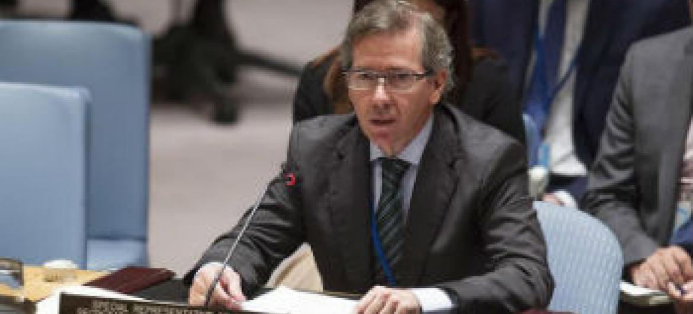 Bernardino León no Conselho de Segurança. Foto: ONU/Loey Felipe
