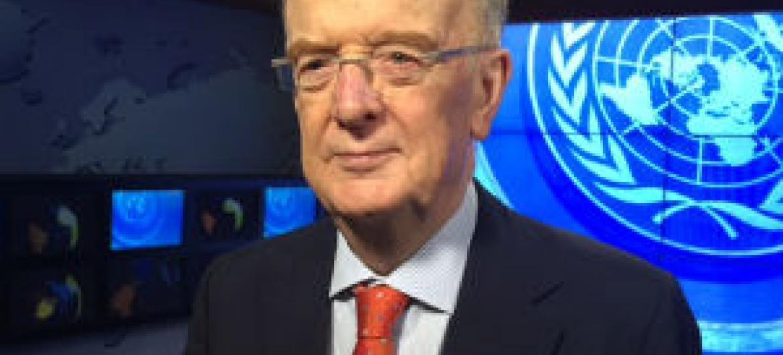 Jorge Sampaio na sede das Nações Unidas. Foto: Rádio ONU