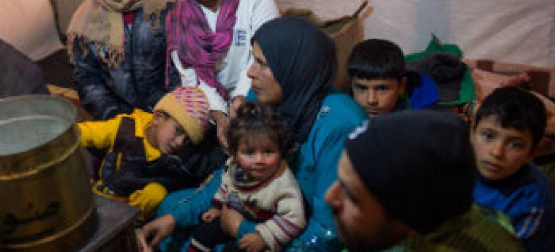 Refugiados sírios no Líbano. Foto: ONU/A. McConnell