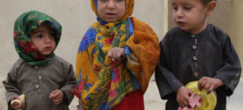 Crianças afegãs. Foto: OMS/J. Jalali