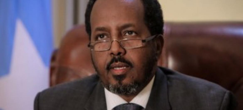 Presidente Hassan Sheikh Mohamud. Foto: Stuart Price.
