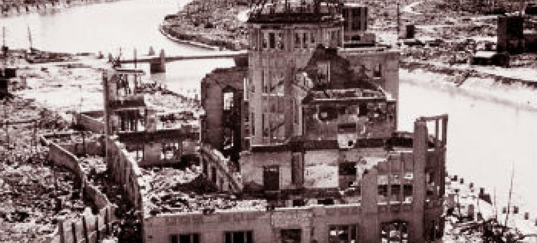 Monumento destruído pelo bombardeio atômico de Hiroshima. Foto: ONU