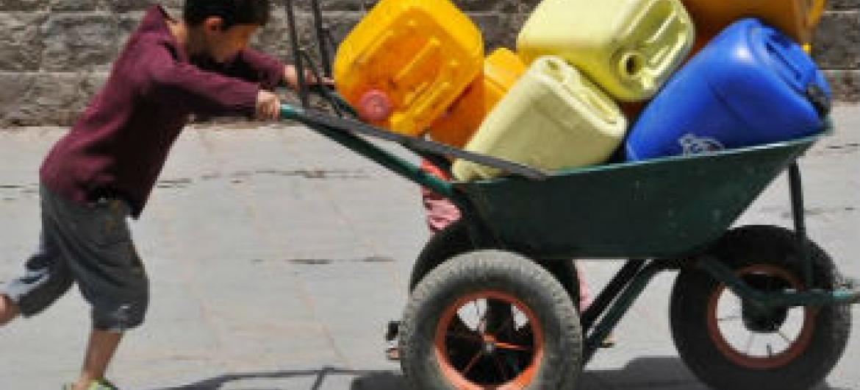 Famílias necessitam de assistência humanitária. Foto: Unicef/Yasin