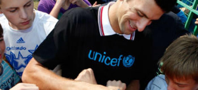 Novak Djokovic. Foto: Unicef