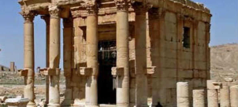 Templo Baalshamin em Palmyra. Foto: Unesco