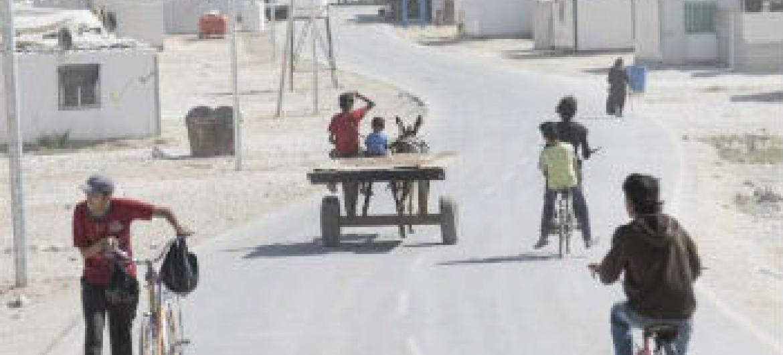 Campo para refugiados sírios na Jordânia. Foto: Acnur/UNHCR/C. Herwig