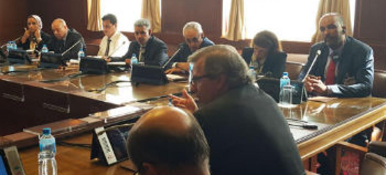 Ronda de consultas decorre em Genebra. Foto: Unsmil