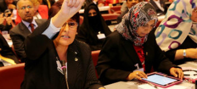 Mulheres nos parlamentos. Foto: União Interparlamentar