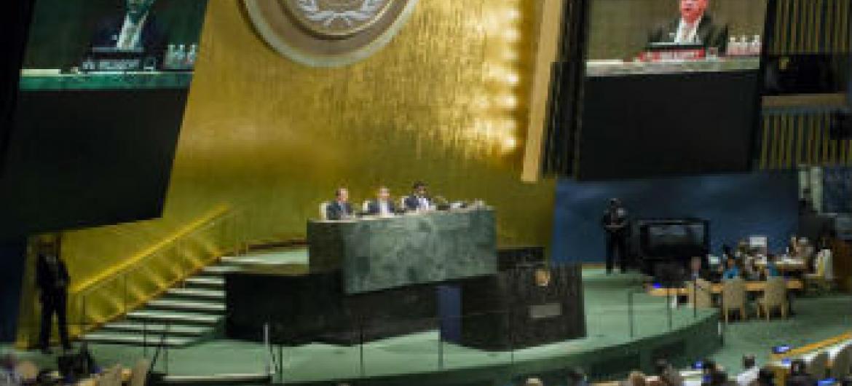 Assembleia Geral da ONU onde foi realizada a 4ª Conferência Mundial dos Presidentes de Parlamentos. Foto: ONU/Rick Bajornas