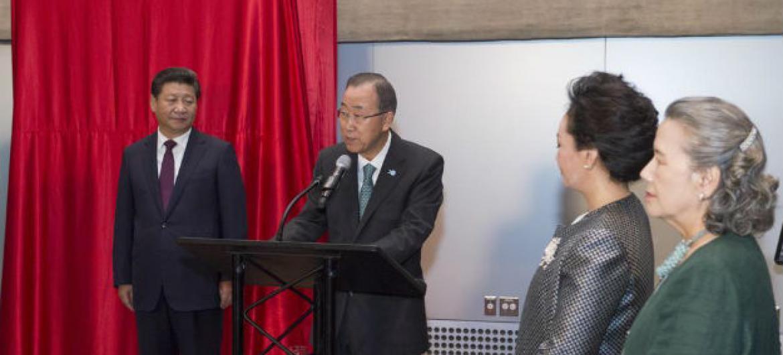 Presidente da China e secretário-geral da ONU. Foto: ONU/Eskinder Debebe