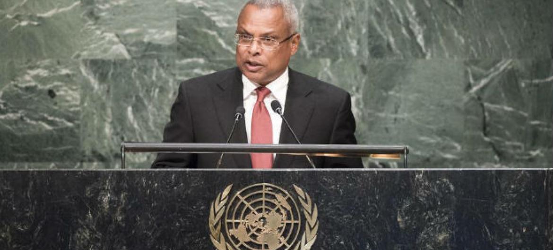 José Maria Neves discursou na Cimeira de Desenvolvimento Sustentável. Foto: ONU/Mark Garten
