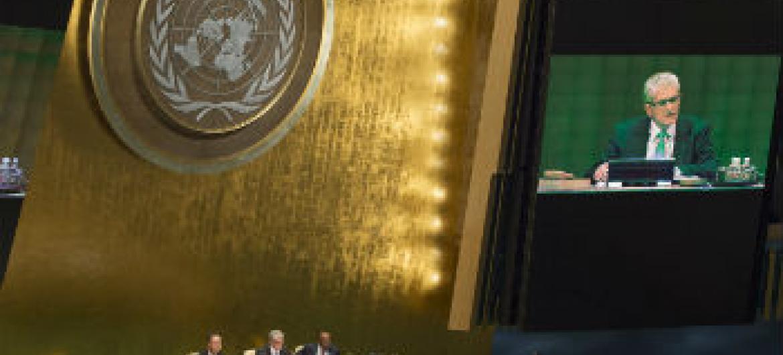 Lykketoft discursa na abertura da 70ª sessão da Assembleia Geral. Foto: ONU/Eskinder Debebe