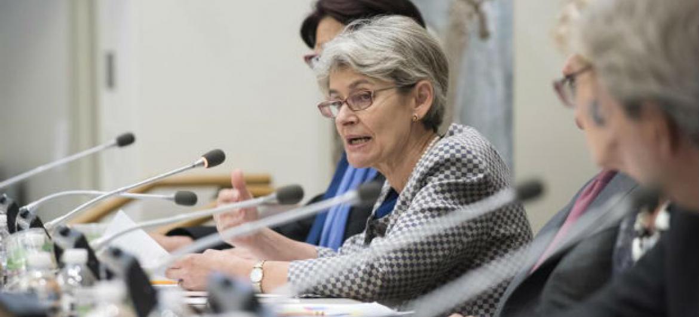 Irina Bokova. Foto: ONU/Kim Haughton
