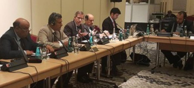 León no encontro com o GNC na Turquia. Foto: Unsmil.