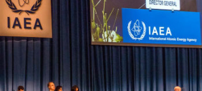 Yukiya Amano discursou na abertura da Conferência Geral da Aiea. Foto: Aiea
