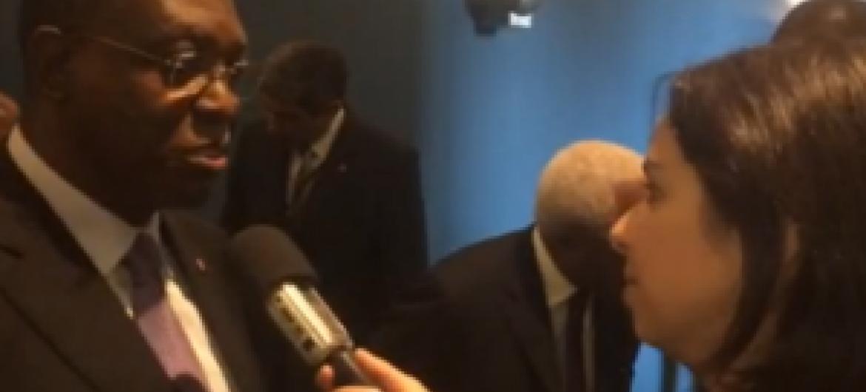 Manuel Vicente falou com Leda Letra. Foto: Rádio ONU