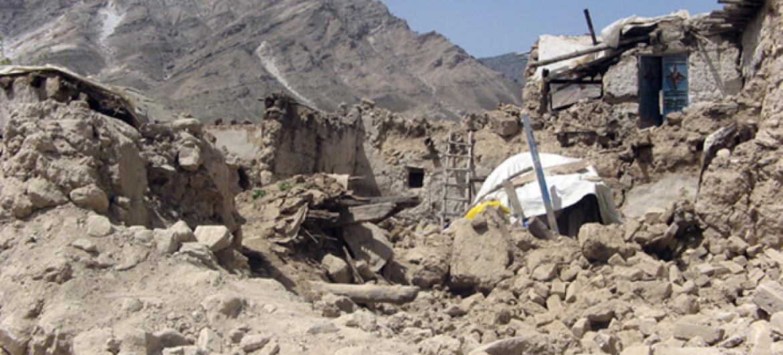 Afeganistão também é propenso a calamidades naturais.Foto: Unama/Qaher Khan