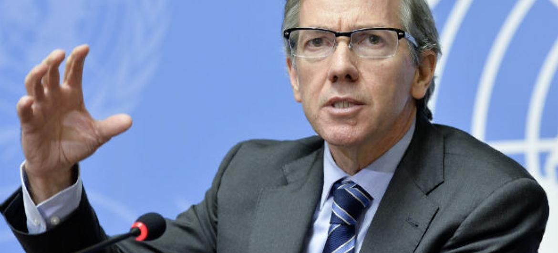 León reiterou o apelo do secretário-geral Ban Ki-moon para que as partes endossem o acordo. Foto: ONU/Jean-Marc Ferré