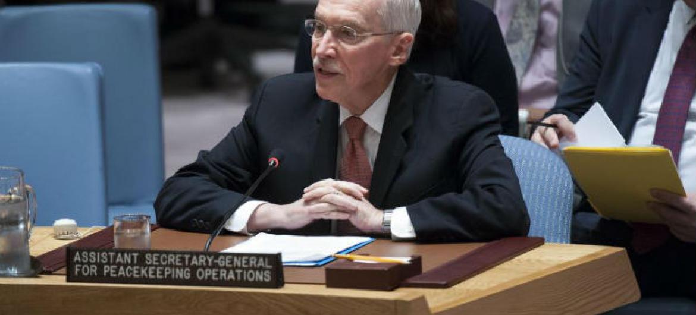 Edmond Mulet em discurso no Conselho de Segurança. Foto: ONU/Kim Haughton