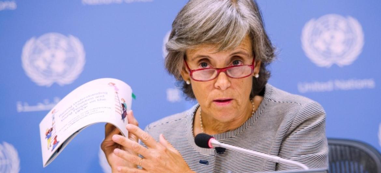 Marta Santos Pais quer que congressistas norte-americanos priorizem a ratificação da Convenção dos Direitos da Criança. Foto: ONU/Amanda Voisard.