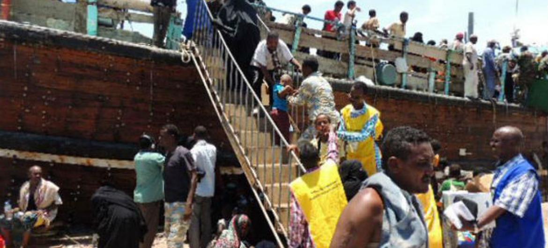 Migrantes no Iémen. Foto: OIM