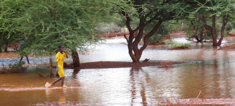 Cheias na Somália. Foto: Ocha/R. Geekie