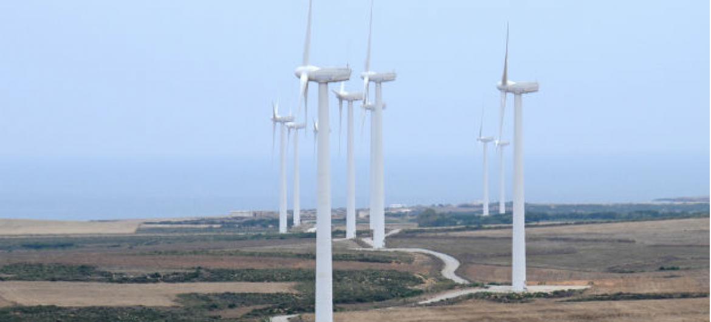 Torres eólicas na Tunísia. Foto: Dana Smillie / Banco Mundial