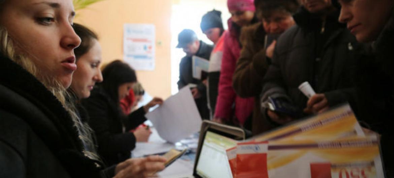 O Programa Mundial de Alimentos conseguiu retomar a entrega de ajuda humanitária em Donestsk. Foto: PMA/Abeer Etefa