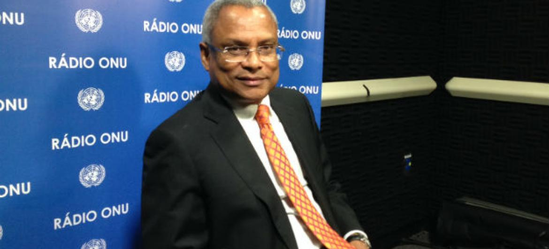 José Maria Neves discursou na Assembleia Geral esta quinta-feira. Foto: Rádio ONU