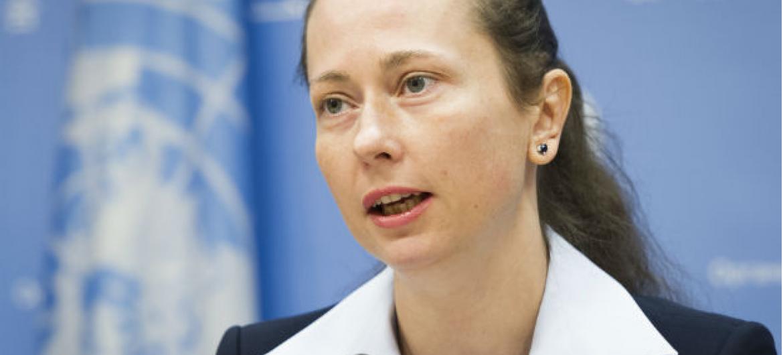 Elzbieta Karska épresidente do Grupo de Trabalho da ONU sobre o Uso de Mercenários.Foto: ONU/ Mark Garten
