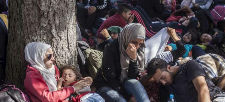 Grupo de refugiados na Croácia. Foto: Acnur/I. Pavicevic