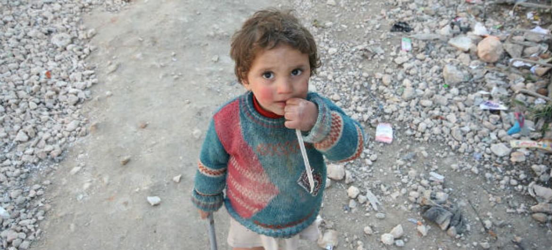 Campo de Tesreen Camp, em Alepo, na Síria. Foto: Ocha/Josephine Guerrero