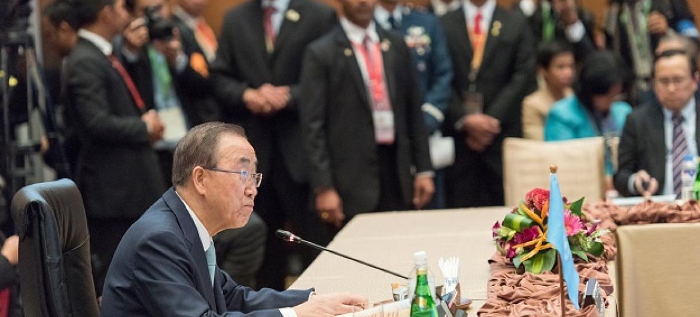 Ban Ki-moon disse acreditar firmemente no diálogo entre as duas Coreias.Foto: ONU/Mark Garten.
