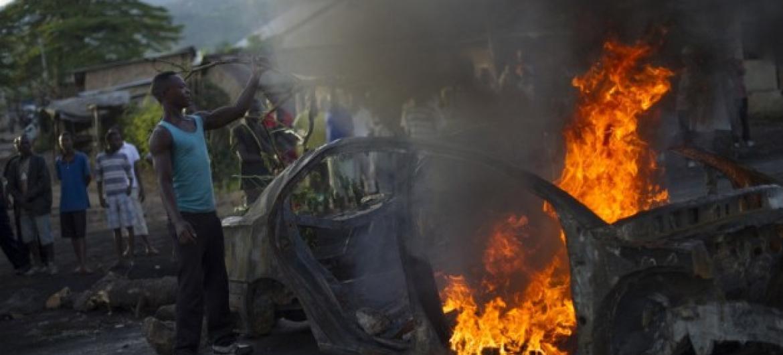 Cerca de 280 mil pesoas deixaram as suas casas desde os protestos iniciados há oito meses. Foto: Phil Moore/Irin.